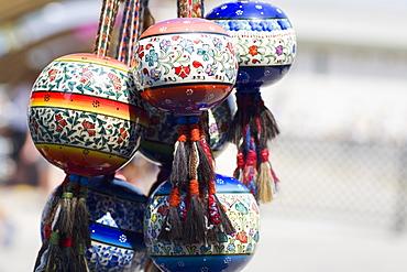 Close-up of decorative items for sale, Ephesus, Turkey