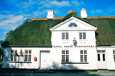 Facade of a hotel, Falsled Kro, Funen County, Denmark