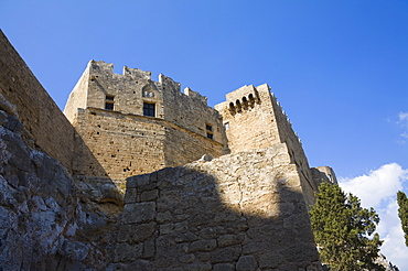 Low angle view of a palace, Grand Master's Palace, Rhodes, Dodecanese Islands, Greece