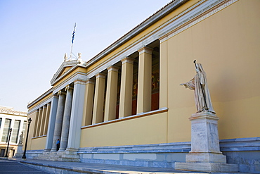 Low angle view of an educational building, Athens Academy, Athens, Greece