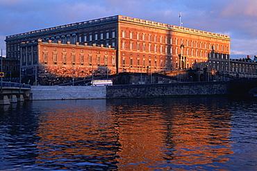 Palace at the waterfront, Riddarholmen Royal Palace, Stockholm, Sweden