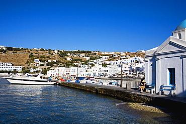 Boats at the dock, Mykonos, Cyclades Islands, Greece