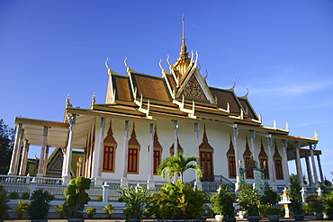 Low angle view of a palace, Royal Palace, Phnom Penh, Cambodia