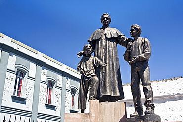 Low angle view of statues, San Juan Bosco, Arequipa, Peru