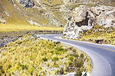 Road passing through a landscape, Arequipa-Puno, Peru