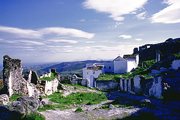 Houses in a village, Casares, Costa Del Sol, Andalusia, Spain