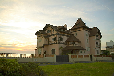 Low angle view of a hotel, Carrefour d'Helianthe, Biarritz, France