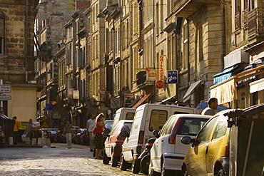 Vehicles in a street, Quartier St. Michel, Vieux Bordeaux, Bordeaux, France