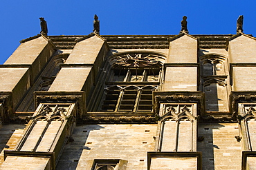 Low angle view of a cathedral, Le Mans Cathedral, Le Mans, France