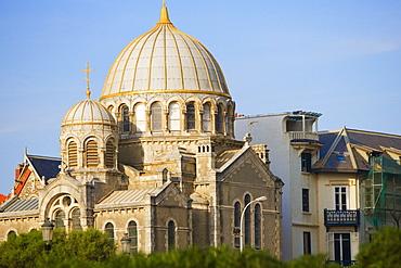 Cathedral in a city, Eglise Orthodoxe Saint Alexandre De La Neva, Biarritz, France