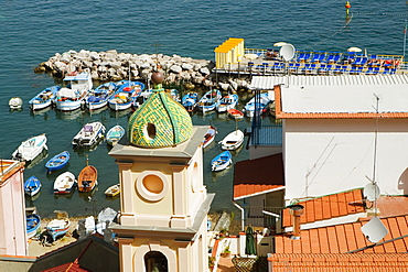 High section view of a church, Church Of St. Anna, Marina Grande, Capri, Sorrento, Sorrentine Peninsula, Naples Province, Campania, Italy