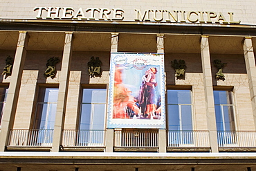 Low angle view of a movie theater, Theatre Municipal, Le Mans, Sarthe, France