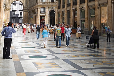 Group of people in a shopping mall, Galleria Umberto I, Naples, Naples Province, Campania, Italy