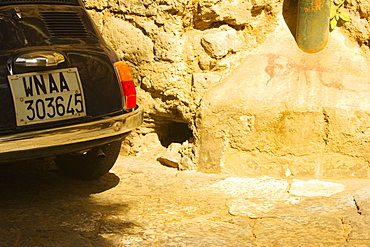 Number plate of a car, Sorrento, Sorrentine Peninsula, Naples Province, Campania, Italy