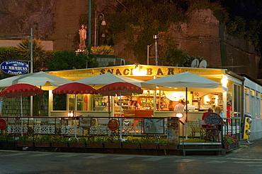 Facade of a restaurant, Piazza Marinai d'Italia, Sorrento, Sorrentine Peninsula, Naples Province, Campania, Italy