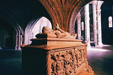 Statue inside of a monastery, San Jeronimo Monastery, Belem, Portugal