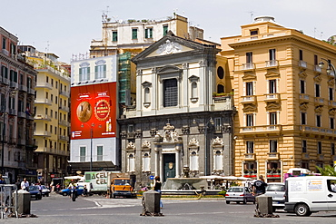 Buildings at a town square, Piazza Trieste e Trento, Naples, Naples Province, Campania, Italy
