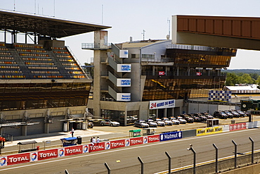 High angle view of cars in a row, Le Mans, France