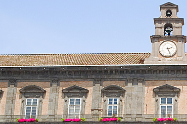 Low angle view of a palace, Royal Palace of Turin, Naples, Naples Province, Campania, Italy
