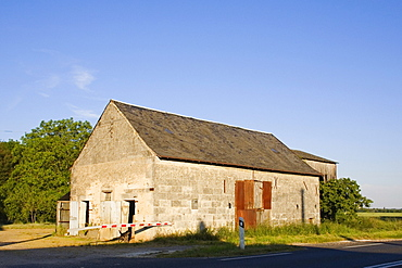 House at a roadside, Loire Valley, France