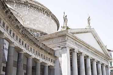 Low angle view of a church, Basilica Di San Francesco Di Paola, Naples, Naples Province, Campania, Italy