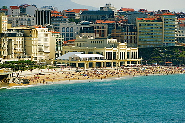 Buildings at the waterfront, Casino Municipal, Grande Plage, Biarritz, France
