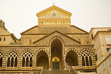 Low angle view of a cathedral, Cattedrale di Sant' Andrea, Costiera Amalfitana, Amalfi, Salerno, Campania, Italy