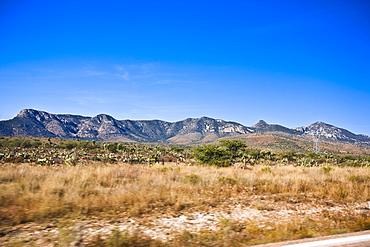 Mountain range on a landscape, Sombrerete, Zacatecas State, Mexico