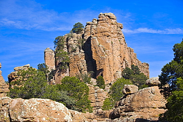 Low angle view of a rock formation, Sierra De Organos, Sombrerete, Zacatecas State, Mexico