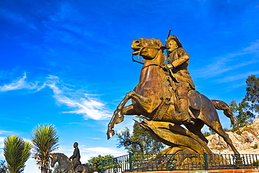 Low angle view of a statue, Zacatecas State, Mexico