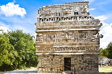 Old ruins of a building, Nun's Building, Chichen Itza, Yucatan, Mexico