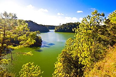 Reflection of trees in water, Lagunas De Montebello National Park, Chiapas, Mexico