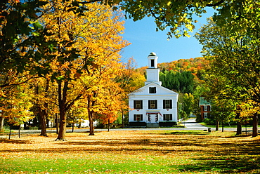 Church in the garden, Chelsea, Vermont, USA