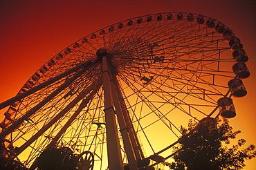 Low angle view of a ferris wheel, Texas, USA