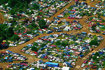 Aerial view of auto junk yard ( Upper Black Eddy, PA )