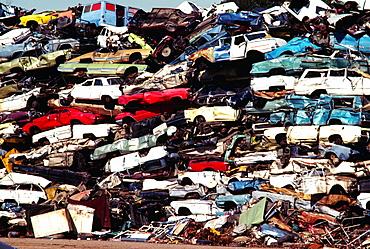 Pile of junk cars, Los Angeles, CA
