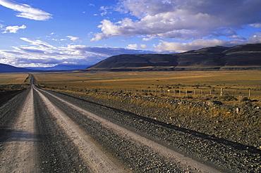 Dirt road through a landscape