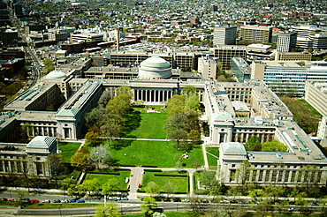 Aerial view of the Mass. Institute of Technology , Cambridge, MA