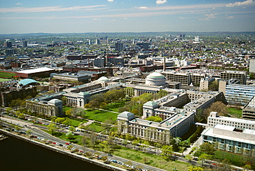 Aerial view of the Mass Institute of Technology, Cambridge, MA