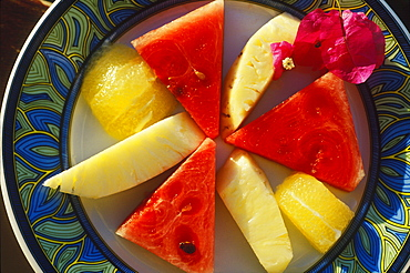Close-up of fruit on a plate