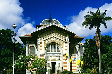 The public library is seen in Fort de France on the island of Martinique