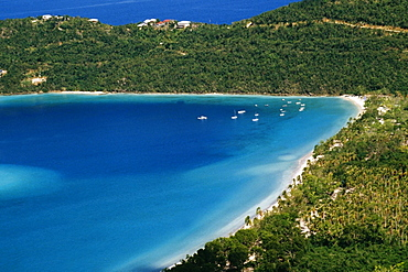 Aerial view of the coastline, S.S. Norway, Magens Bay, St. Thomas, U.S. Virgin Islands