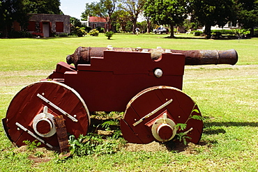 Side view of an old cannon, Plantation, St. Croix, U.S. Virgin Islands