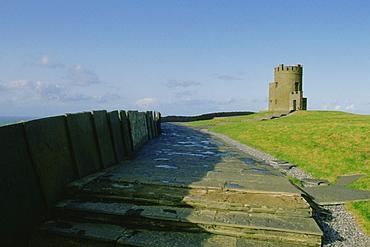 Wall near the coast, Cliffs of Moher, Republic of Ireland