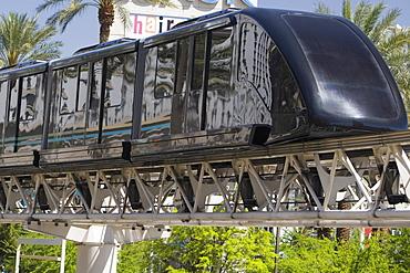 Close-up of a monorail, Las Vegas, Nevada, USA