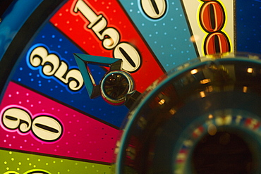 High angle view of a roulette wheel, Las Vegas, Nevada, USA