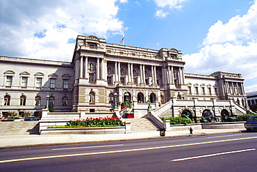 Facade of a government building, Library Of Congress, Washington DC, USA