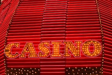 Neon sign board on a casino, Las Vegas, Nevada, USA