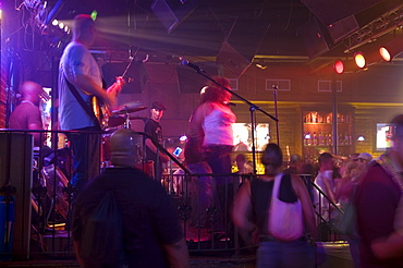 Group of people dancing at a nightclub, New Orleans, Louisiana, USA