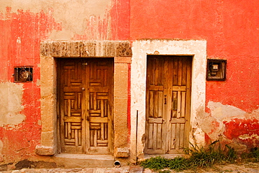 Closed doors of a building, Mexico